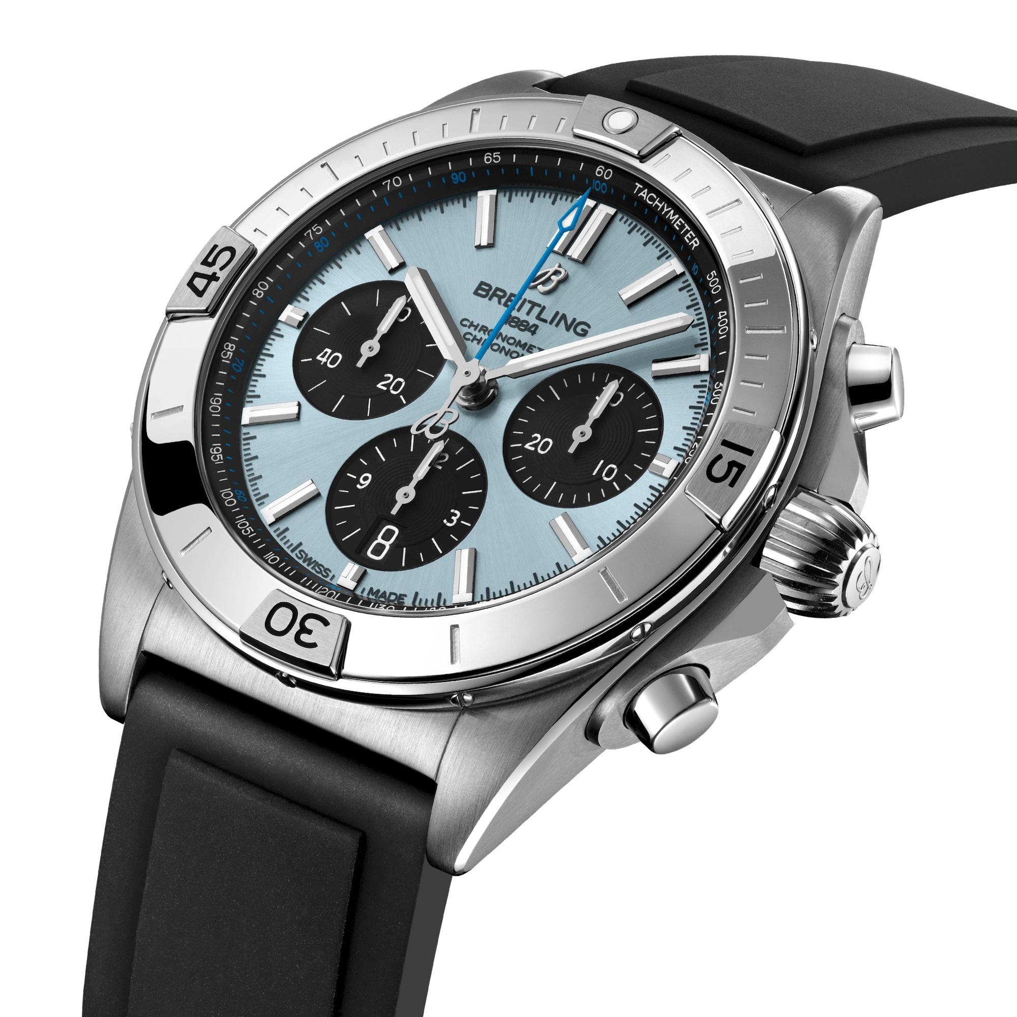 Breitling Chronomat B01 42 Ice Blue PB0134101C1S1 Esfera