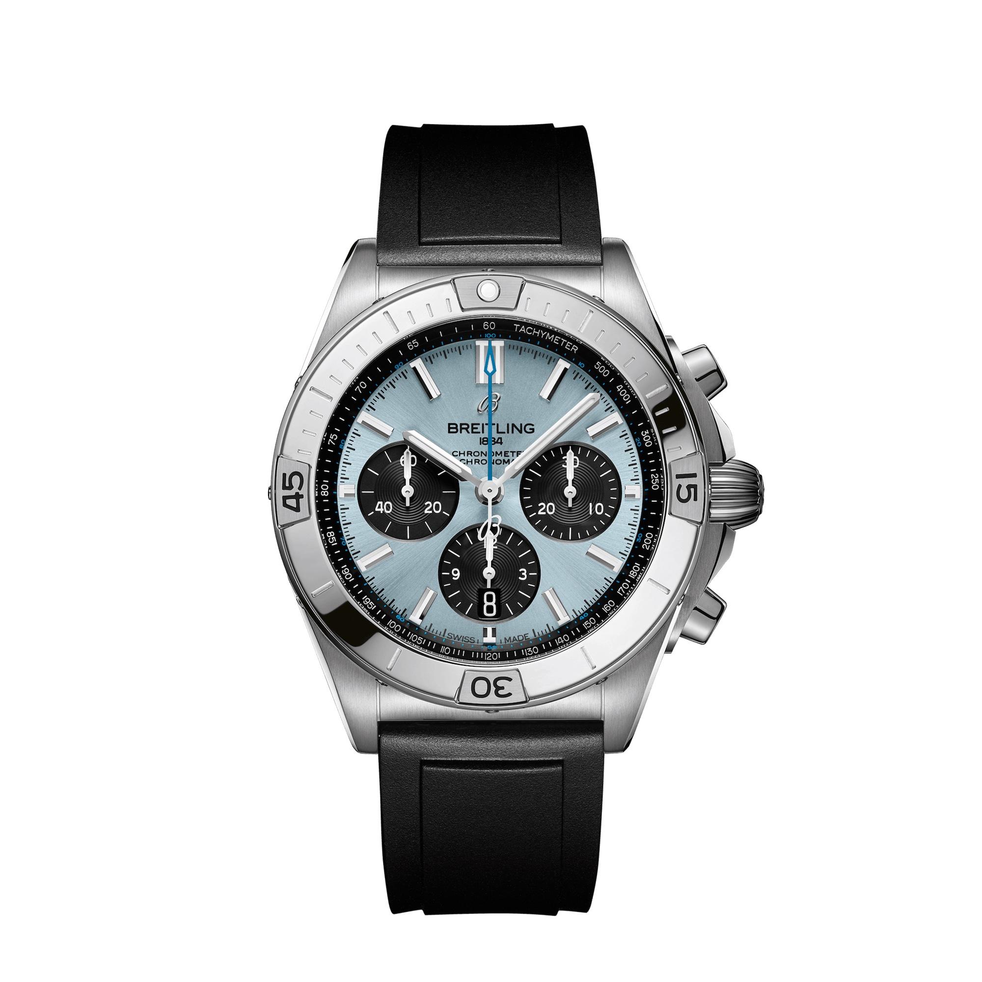 Breitling Chronomat B01 42 Ice Blue PB0134101C1S1 Frontal