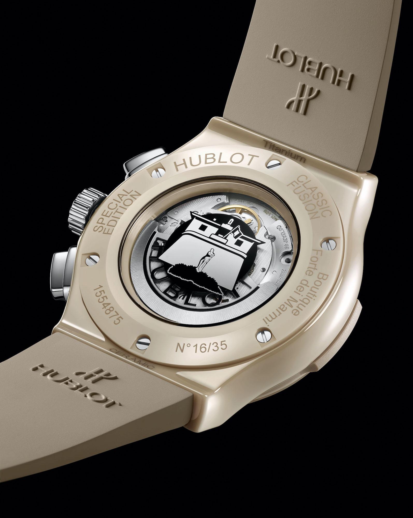 Hublot Classic Fusion Chronograph Boutique Forte dei Marmi 521.CZ.892B.RX.BHF21 Detalle trasera