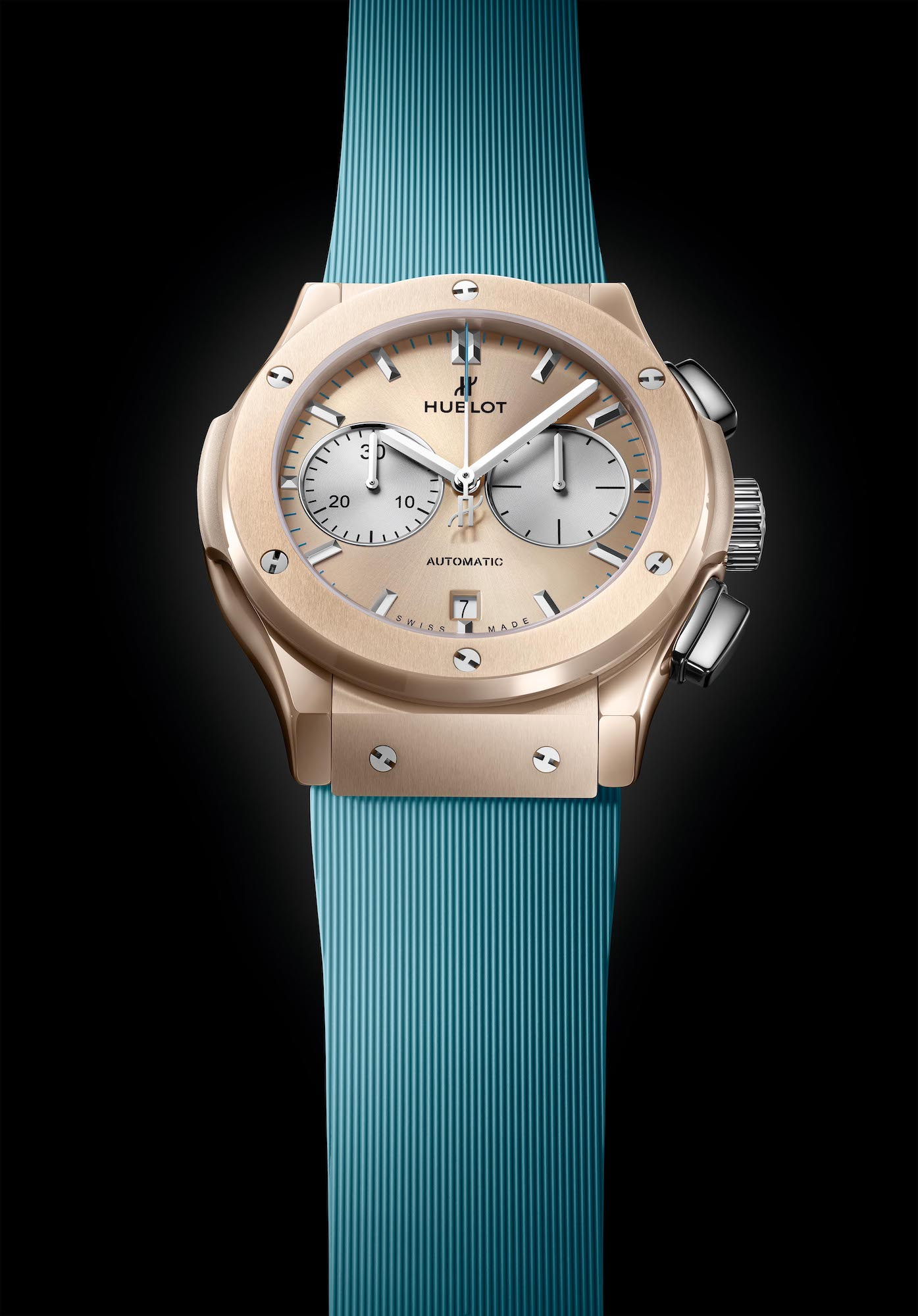Hublot Classic Fusion Chronograph Boutique Forte dei Marmi 521.CZ.892B.RX.BHF21 Esfera correa azul