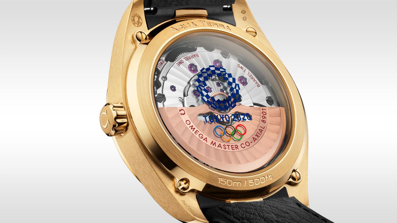 Omega Seamaster Aqua Terra Tokyo 2020 Gold Edition 41mm 522.53.41.21.03.001 Detalle trasera