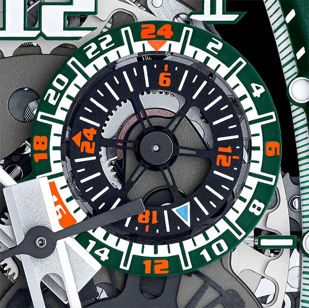 Richard Mille RM 029 Automatic Le Mans Classic Detalle contador 24horas