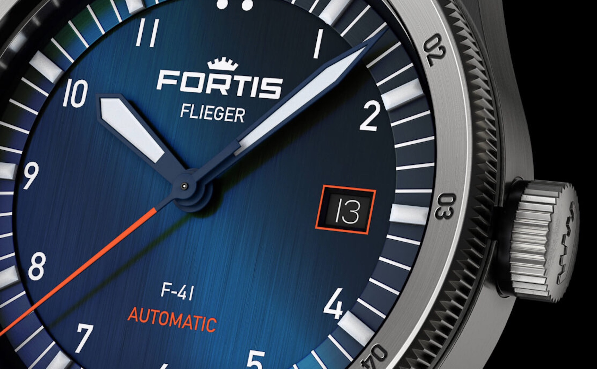 Fortis Flieger F-41 Midnight Blue F4220013 Detalle