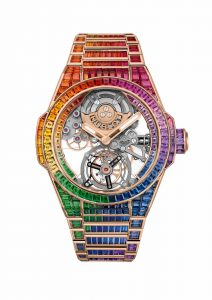 Hublot Big Bang Integral Tourbillon Rainbow 455.OX.9900.OX.9999 Frontal