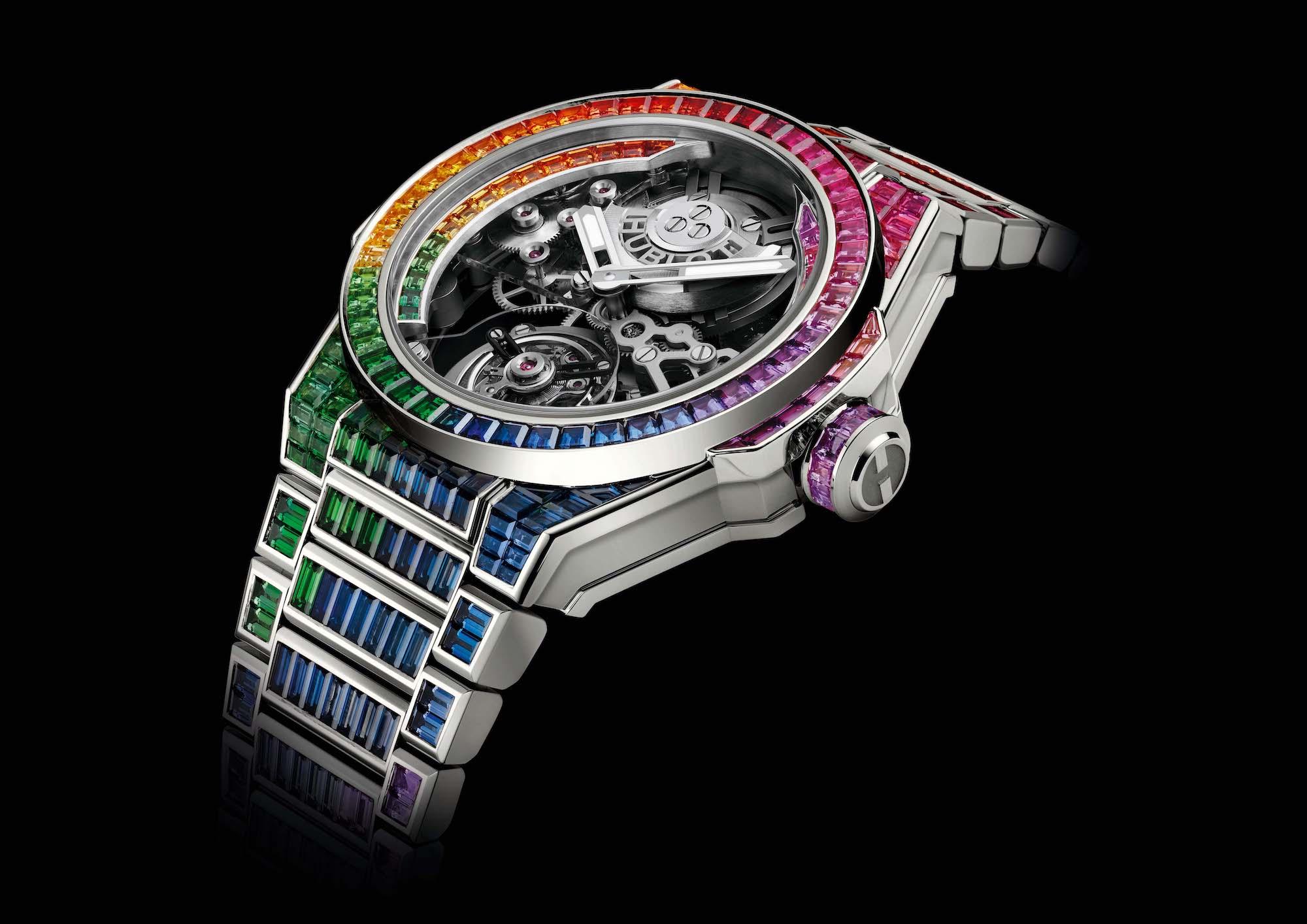 Hublot Big Bang Integral Tourbillon Rainbow 455.WX.9900.WX.9999 Esfera