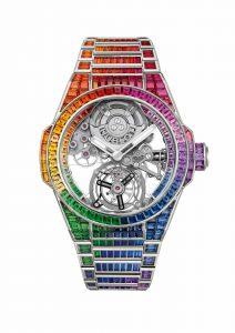 Hublot Big Bang Integral Tourbillon Rainbow 455.WX.9900.WX.9999 Frontal
