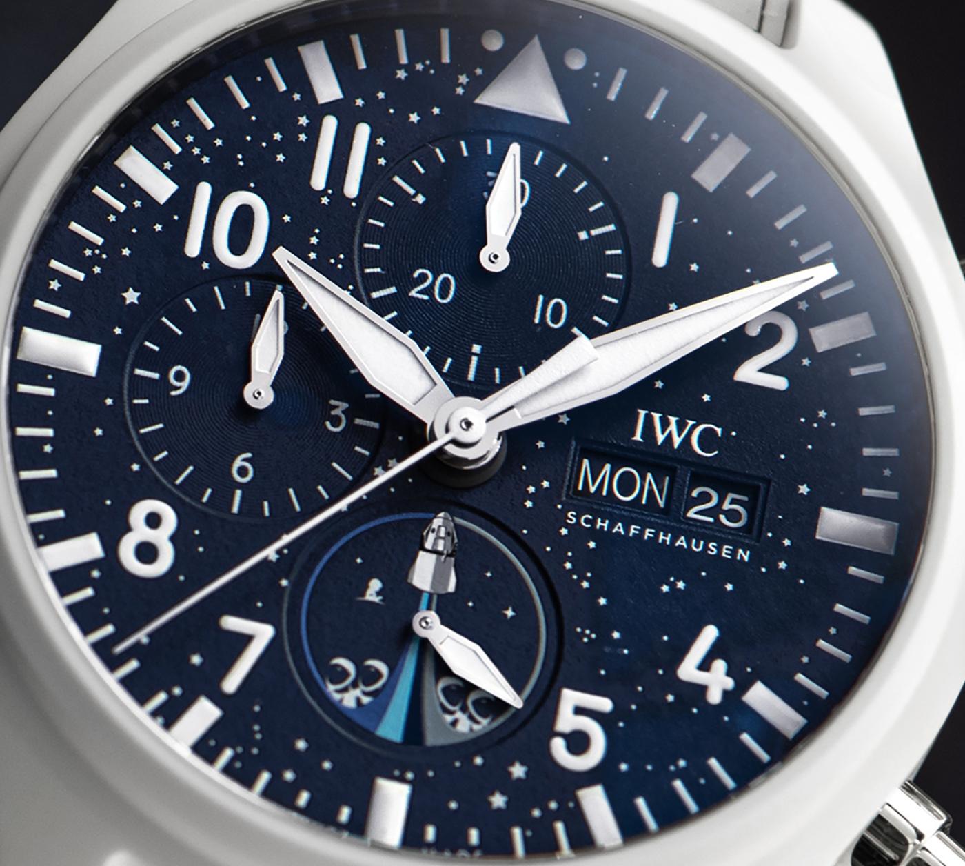 IWC Pilot's Watch Chronograph Inspiration4 Edition IW389110 Detalle esfera