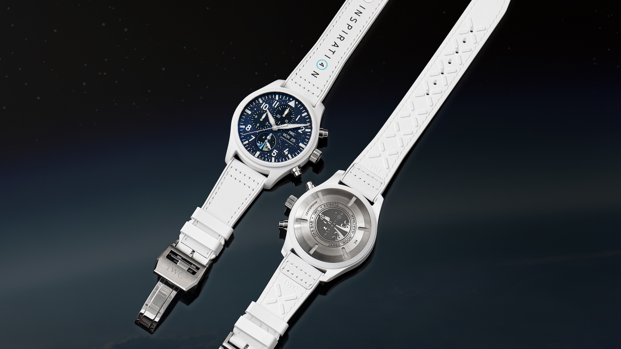 IWC Pilot's Watch Chronograph Inspiration4 Edition IW389110 Frontal y trasera