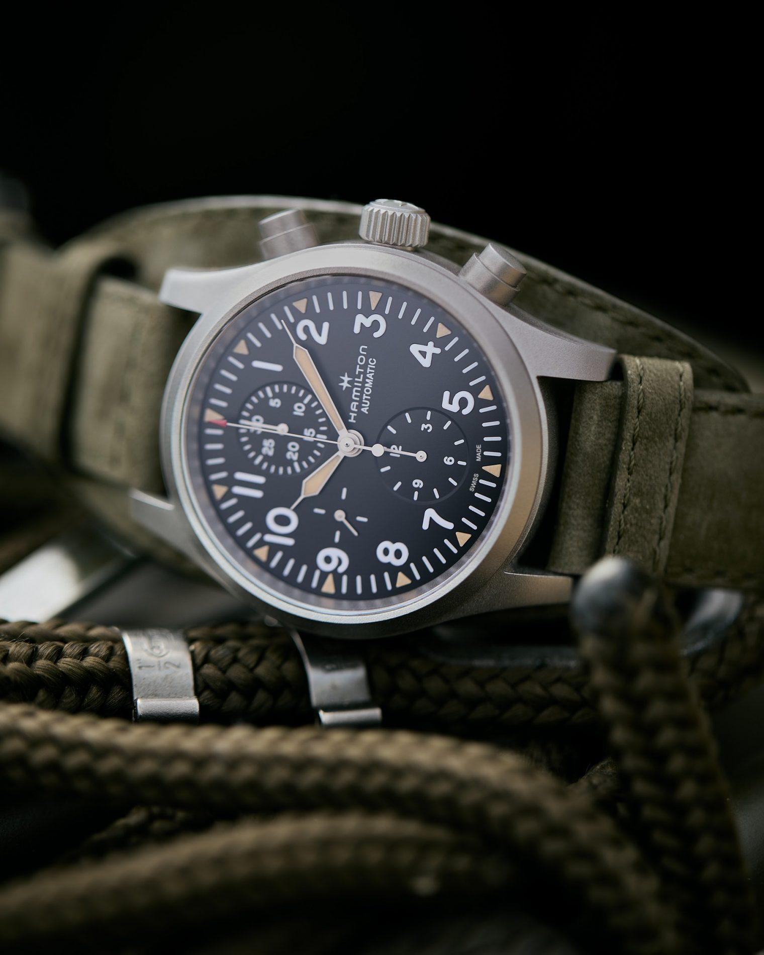Hamilton Khaki Field Automatic Chronograph H71706830 Lifestyle detalle