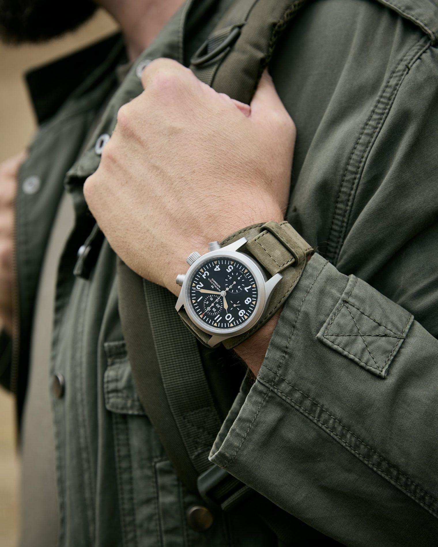Hamilton Khaki Field Automatic Chronograph H71706830 Lifestyle wristshot