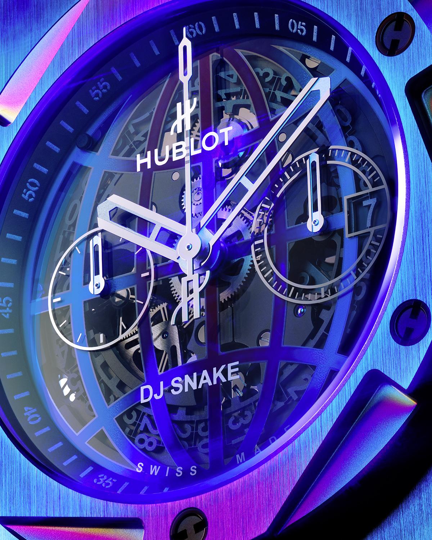 Hublot Big Bang DJ Snake Lifestyle detalle esfera