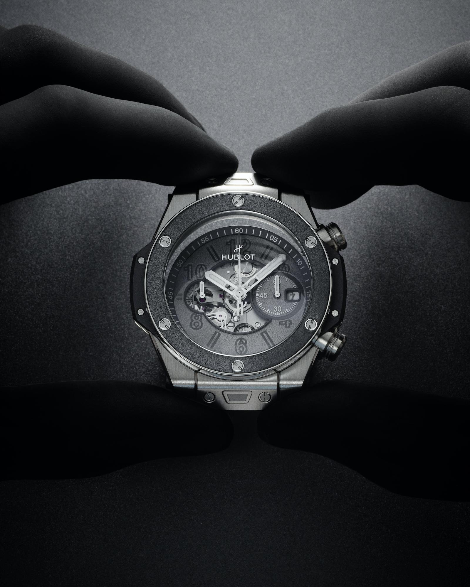 Hublot Big Bang Unico Berluti Aluminio 421.NX.0500.VR.BER21 Savoir Faire Colocación caja