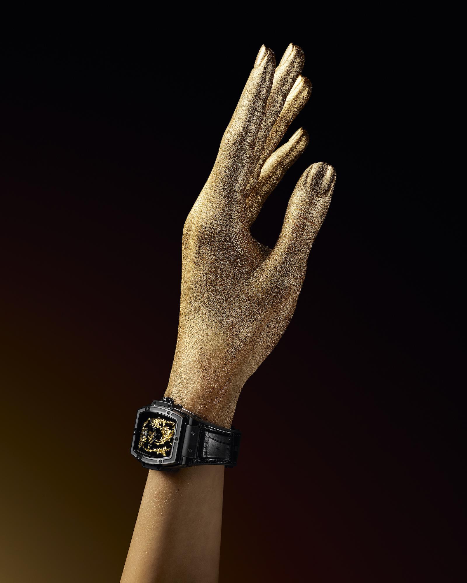 Hublot Spirit of Big Bang Gold Crystal Lifestyle wristshot