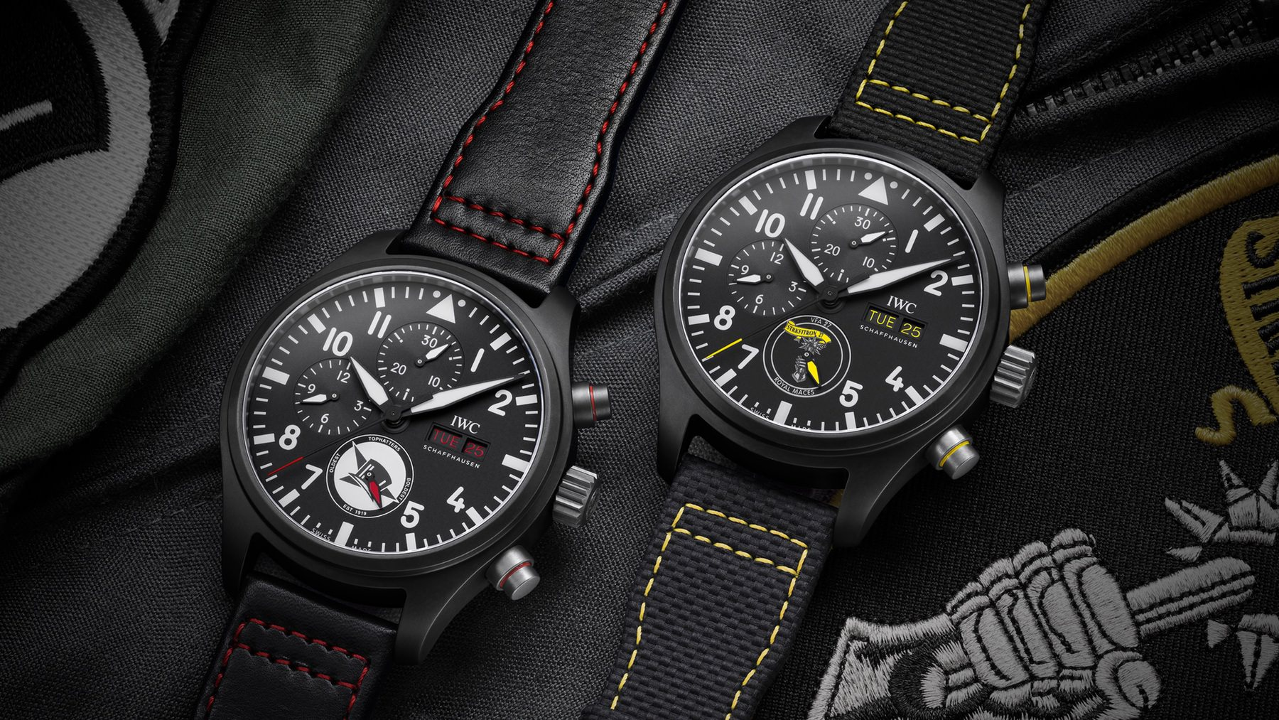 IWC Pilot Watch Chronograph US Navy Squadrons Royal Maces - Tophatters Editions Lifestyle