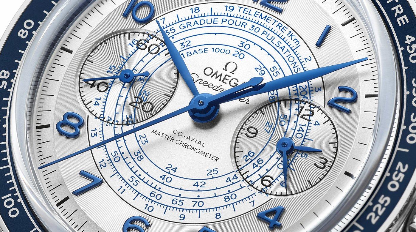 Omega Speedmaster Chronoscope 329.33.43.51.02.001 Detalle esfera