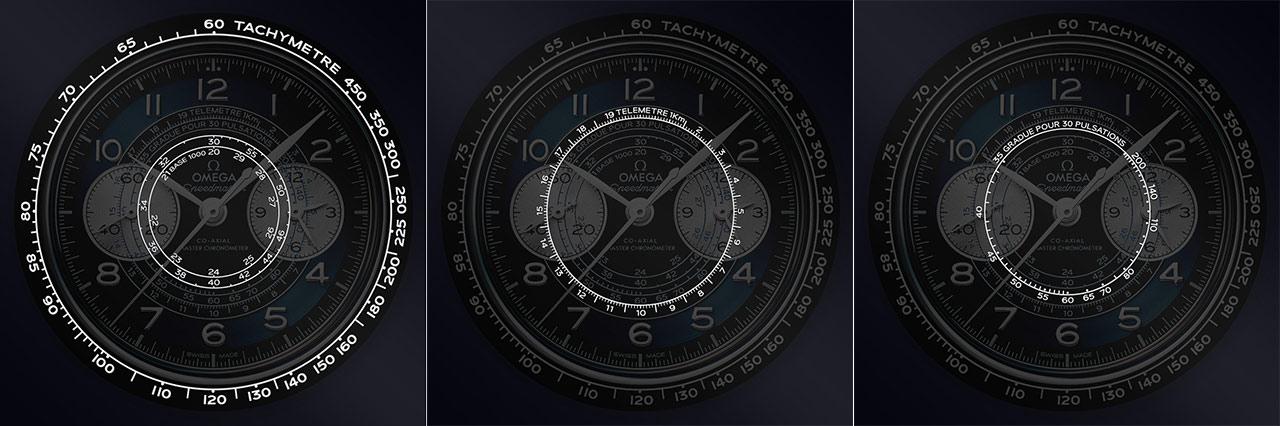 Omega Speedmaster Chronoscope Escalas