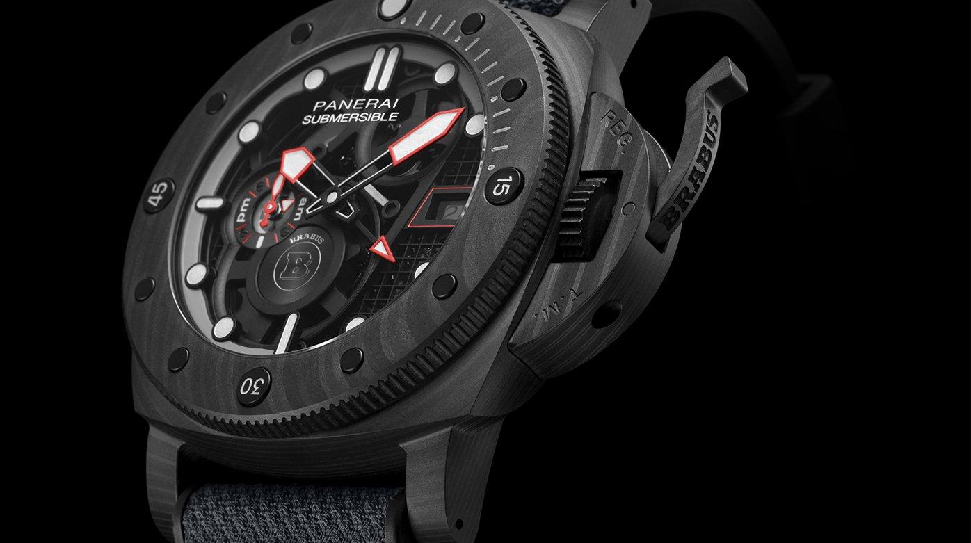 Panerai Submersible S Brabus Black Ops Edition PAM01240 Esfera