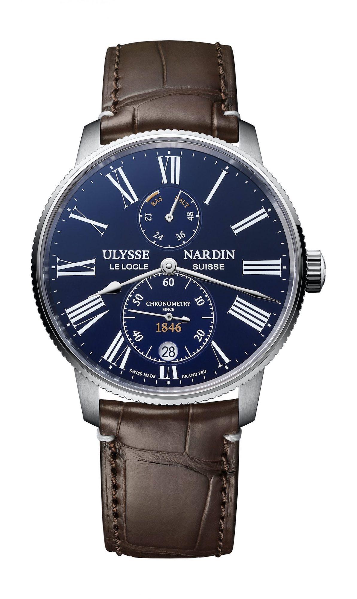 Ulysse Nardin Marine Torpilleur Blue Enamel 1183-310LE-3AE-175:1A Frontal