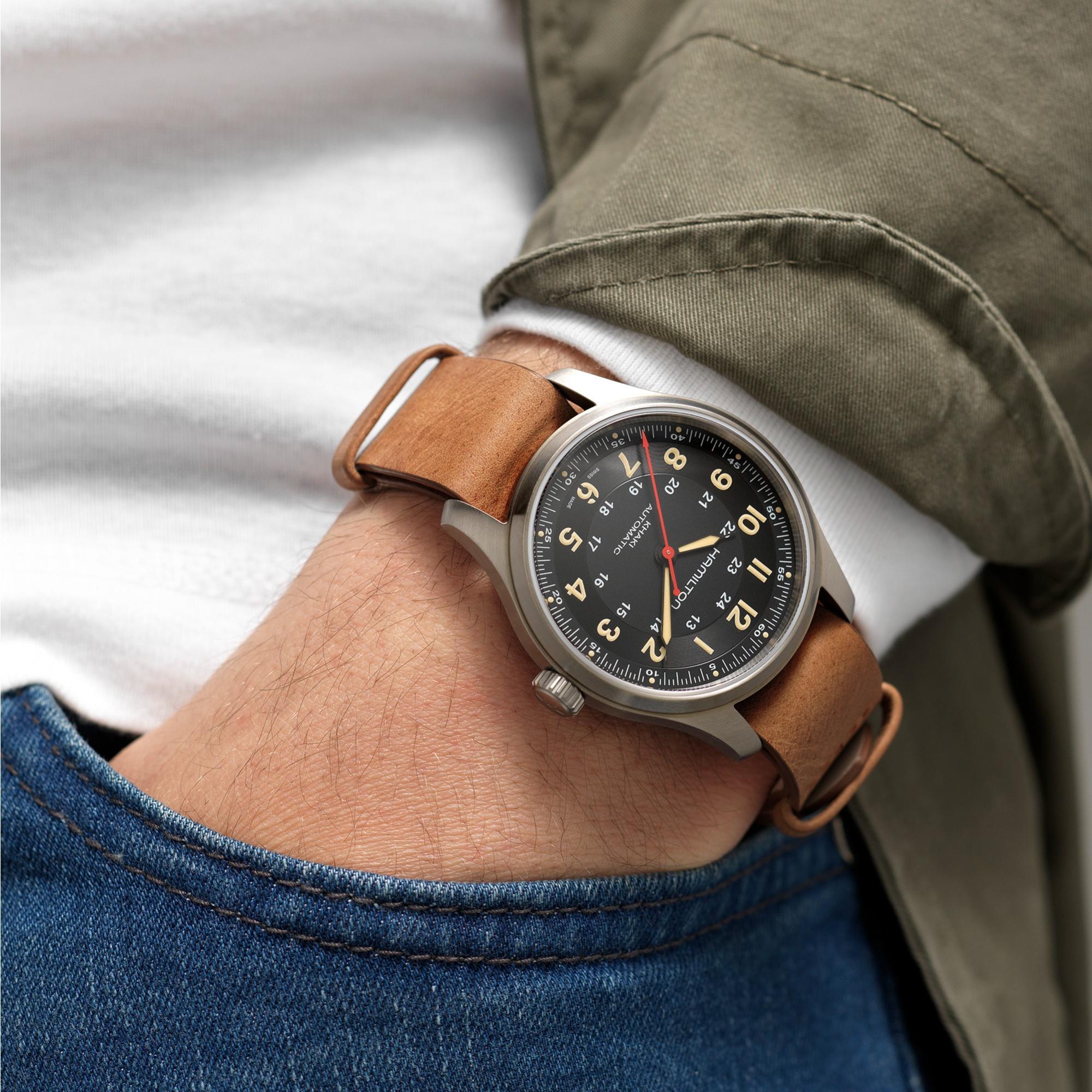 Hamilton Khaki Field Titanium Far Cry 6 Limited Edition H70645533 Lifestyle wristshot
